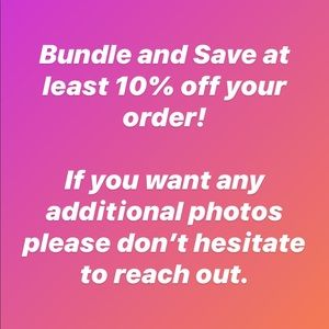 Bundle 2 or More Items & Save ⚠️